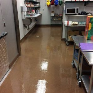 Industrial Kitchen with Epoxy Flooring