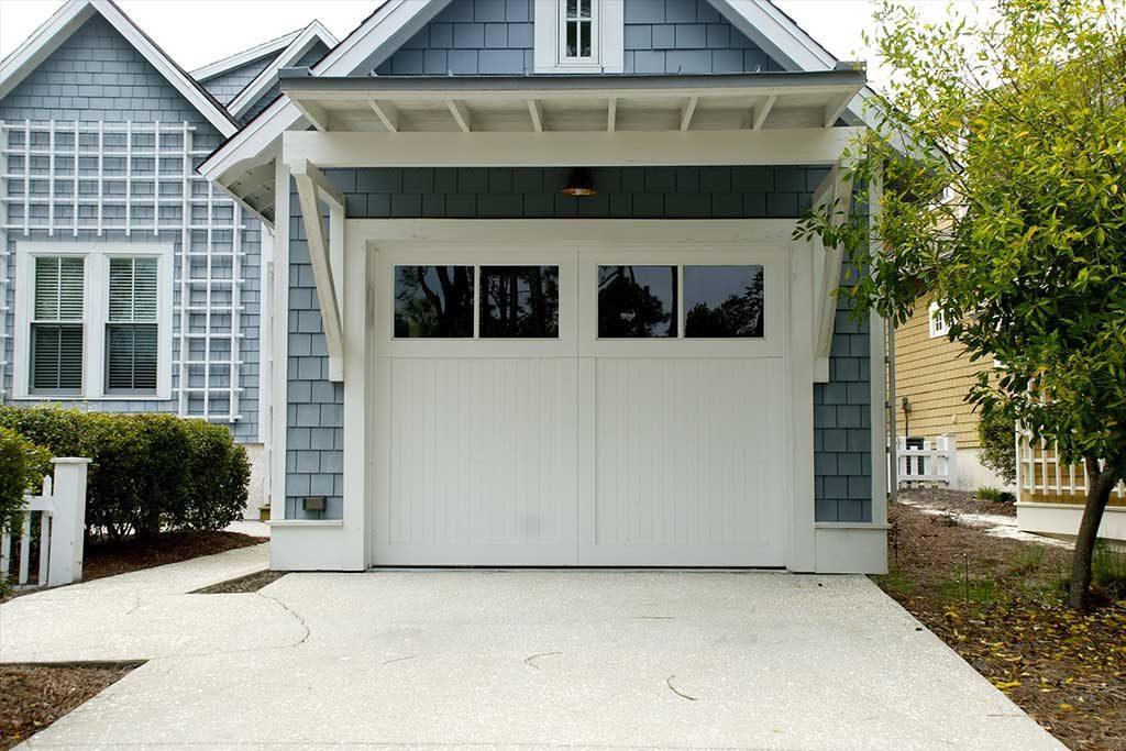 Closed garage door