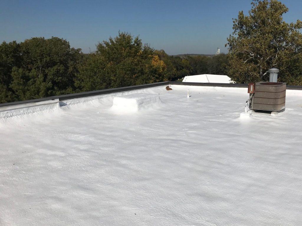 Spray foam on a flat roof