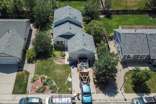 Timnath, CO roofing project for a home