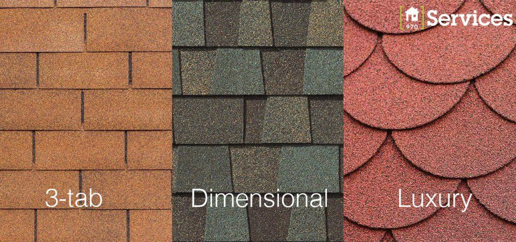three asphalt roofing types