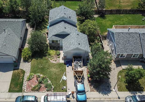 Loveland roofing project for home with asphalt shingles